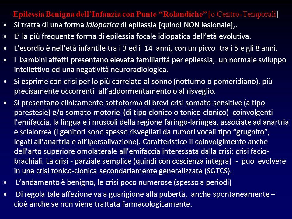 Epilessia Benigna dell'Infanzia con Punte Rolandiche [o Centro-Temporali]